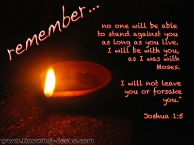 Joshua 1:5 I Will Not Leave You Nor Forsake You (orange)